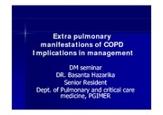 Systemic manifestations in COPD