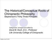 CPAP 1505 Stephenson's 33 Principles Reorganized, Categorized, and Edited