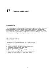 Chapter 17 Career Mgmt  teacher resources
