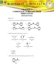 CHAPTER 15 - CARBOXYLIC ACIDS AND THEIR DERIVATIVES