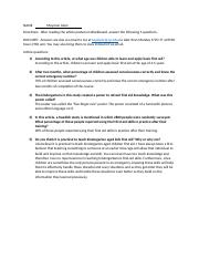 HW 4 - Kindergarten First Aid Article Questions.docx