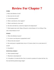 Review Questions for Chapter 7