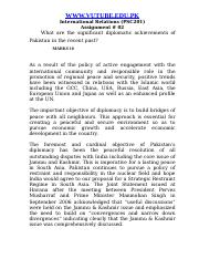 International Relations - PSC201 Spring 2007 Assignment 02 Solution.doc