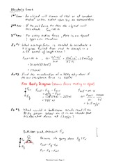 PHYS 11 Newton's Law Notes