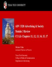 ADV 3320 Advertising & Society Module 3 Review Chapters 11-12-13-14-15-17(1).pdf
