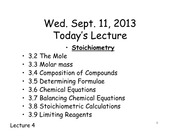 CHEM 121 Lecture 4