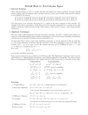 Chapter 2 - pre-calculus topics study guide
