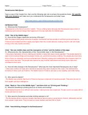 Renaissance Work Sheet