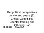 GEOG220 Lecture 5 - Reframing Iraq