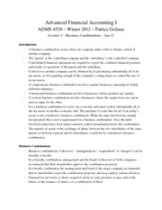 ADMS4520_-_Lecture_2_-_Chapter_3_-_Business_Combinations_-_January_13_2012_-_Patrice_Gelinas