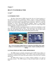 5. Heavy Water Reactor