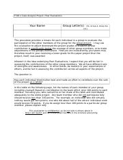 F305 Case Analysis Peer Evaluation Form.docx