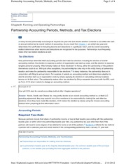 9-4 Partnership Accounting Periods, Methods, and Tax Elections