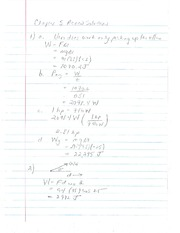 Solutions to Kinematics Homework