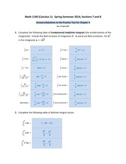 Math 1190 -- Practice Test for Chapter 4 (ANSWERS--SOLUTIONS)