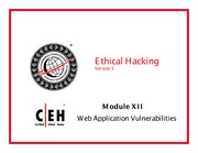 CEH v5 Module 12 Web Application Vulnerabilities
