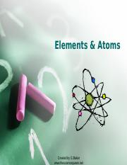 4 Elements and Atoms