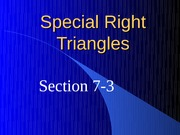 7-3 Special Right Triangles (1)