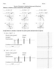 Log graph practice (1).pdf - Name Date Period Practice ...
