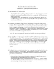 Socratic Seminar Questions 1