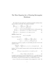 Lecture on the Wave Equation in a Rectangle