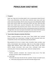 kmunikasi Bisnis P10.pdf - PENULISAN BAD NEWS 1 Pengantar ...