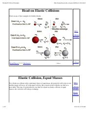 Lecture 7A - Elastic Collisions