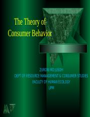 Chapter 4  theory of consumer behavior (1)
