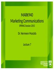 MARK940_Autumn2014_Lectures_Lecture_7.pptx