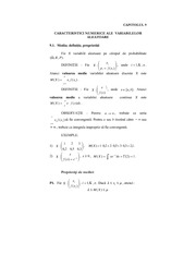 Characteristics of  random variables lecture note