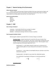 Study Guide Remote Sensing Test 1.docx