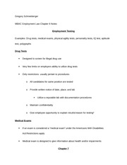 employment law notes chapter 6 and 7