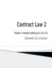 Contract Law 2(2)