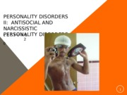 Lecture 20, Personality Disorders II.pptx