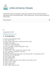 Little alchemy cheats 560 elements from a to z 2 little little alchemy cheats 560 elements from a to z 2 little alchemy cheats little alchemy cheats combinations guide hints solutions full list of 560 ccuart Gallery