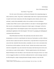 The Fog of War research paper