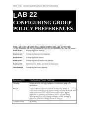 Lab Worksheet Lesson 22 Configuring Group Policy Preferences