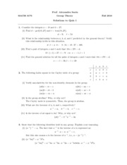 Math 3175  Quiz 1 solutions