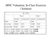solutions to in class excercise valuation