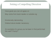 Setting a Compelling Direction