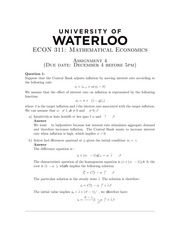 ECON311 Homework4 - Fall 2014 (with solution)