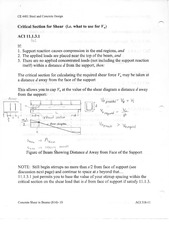 Critical Section for shear notes