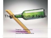 The Equilibrium of Torque (1)