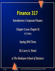 Chapter 8 Finance 317.ppt