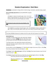 Gizmos Sled Wars Answers : Science Quarter 3 Lessons ...