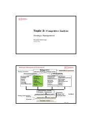 Topic 3-competitive analysis