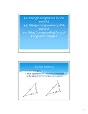 Congruent Triangle Notes