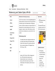 apa 6th referencing and citation styles subject guides at