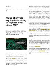 Sep 28, 2017 - Value of private equity dealmaking at highest level since 2007.pdf