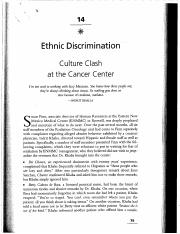 14 Ethinc Discrimination Culture Clash at the Cancer Center